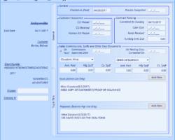 Back Office Form Screenshot