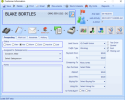 CRM Form Screenshot