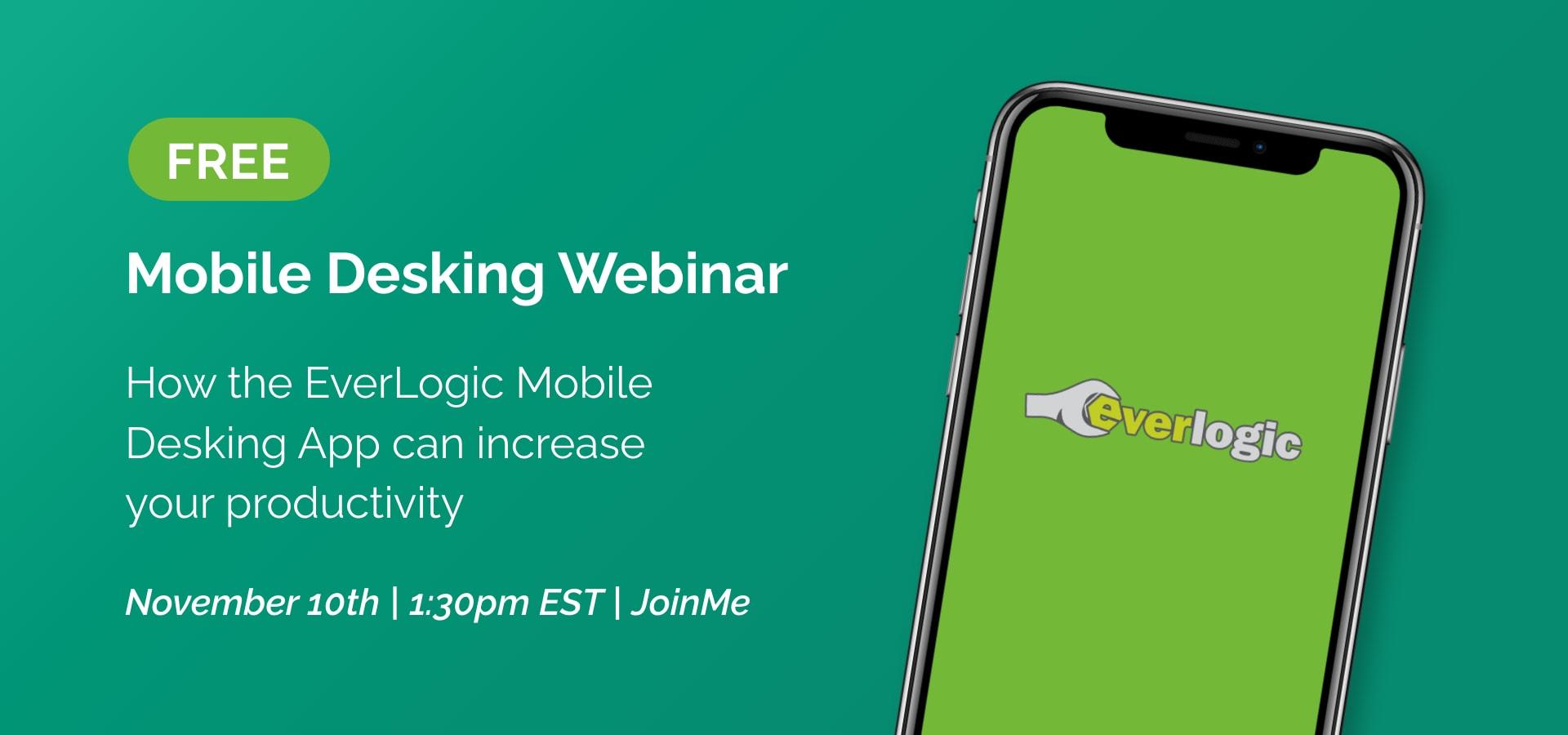 Free Mobile Desking Webinar November 10th