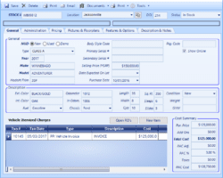 Inventory Form Floor Plan Screenshot