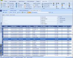 Parts List Screenshot