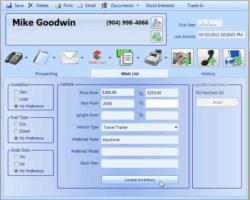 Customer Purchase Preferences Screenshot